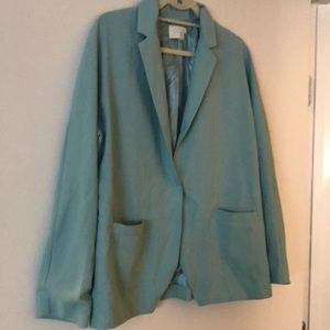 Anthropologie light green blazer